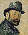 Cézanne au chapeau melon, par Paul Cézanne, esquisse, York.jpg