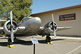 Travis Air Force Base Heritage Center - A C-45 Expeditor parked right outside the museum entrance