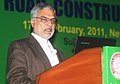 """C.P. Joshi addressing at the inauguration of a Seminar on """"Reducing the Cotton Footprint in Road Construction"""" organized by Indian Road Congress, in New Delhi on February 17, 2011.jpg"""