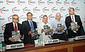 """C.P. Joshi releasing the publication, at the """"4th Edition of India Infrastructure Summit- 2012 Accelerating Implementation of Infrastructure Projects"""" organized by FICCI, in New Delhi on August 31, 2012.jpg"""
