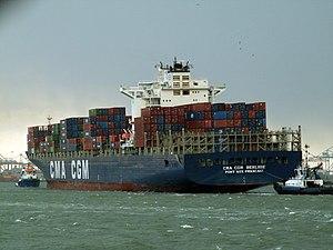 CMA CGM Berlioz astern, Port of Rotterdam, Holland 17-Dec-2005.jpg