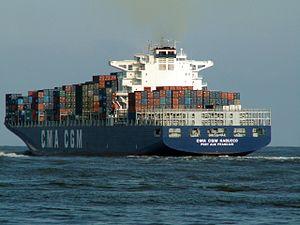 CMA CGM Nabucco p5, leaving Port of Rotterdam, Holland 12-Mar-2006.jpg