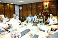 CNS having discussions with COAS and CAS at the 2014 Naval Commander's Conference.jpg