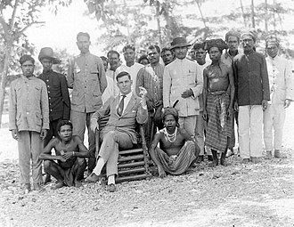 Western European colonialism and colonization - Dutch colonial administrator of the South Moluccas, picture taken 1940.