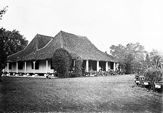 Cianjur, Cianjur Regency - A logement (inn) in Cianjur in the early 1900s