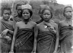 Manggarai people - Manggarai womenfolk.