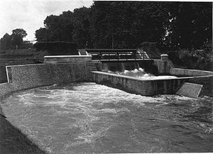 Dutch Ethical Policy - Irrigation waterworks in Jember, East Java, built ca. 1927-1929.