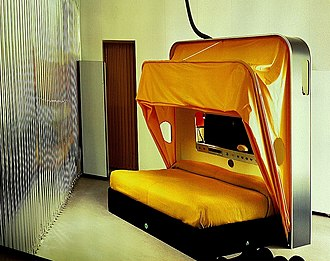 Vitra Design Museum - Cabriolet Bed, from an exposition of works by Joe Cesare Colombo.