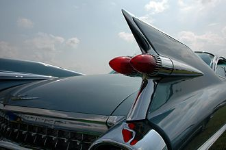 Car tailfin - Another view of the 1959 Cadillac tailfin