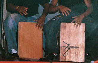 Chincha Alta - Drummers playing the Cajón