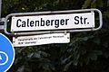 Calenberger Straße in Hannover, Legende am Straßenschild, Hauptstraße der Calenberger Neustadt, 1608 Steinweg.jpg