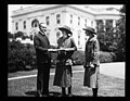 Calvin Coolidge and Girl Scouts at White House, Washington, D.C. LCCN2016894256.jpg
