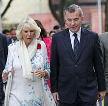 Peter McLaughlin with Camilla, Duchess of Cornwall during her visit to The Doon School in November 2013