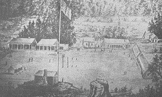 California Historical Landmarks in Del Norte County - Image: Camp Lincoln 1862 Crescent City CA