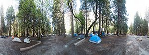 Camp 4 (Yosemite) - A 360 degree view of the Camp 4 campground in May 2013
