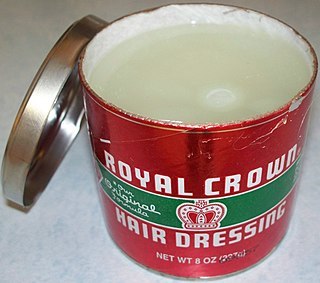 Pomade Cosmetic used for the hair