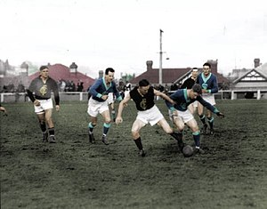 Cananore Football Club - Cananore v Lefroy at North Hobart Oval in 1938.