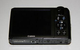 Canon PowerShot S90 - PowerShot S90 Rear view.