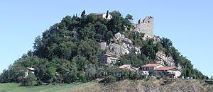 Canossa Castle - The ruins of the Castle of Canossa.