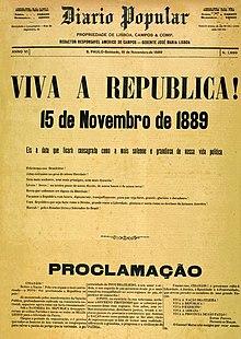 Resultado de imagem para proclamação da república
