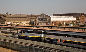 Sacramento Valley Station - A Capitol Corridor train at Sacramento in August 2016