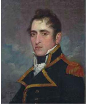 HMS Atalante (1808) - Captain Frederick Hickey R.N. (1775-1839) by Gilbert Stuart