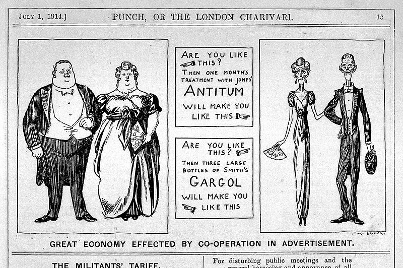File:Caricature- Punch; Great economy... Wellcome L0028090.jpg