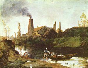 Eberswalde - Steel-mill near Eberswalde, Carl Blechen, c. 1830.