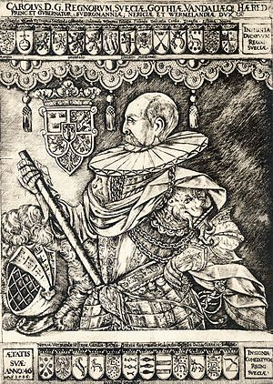 Charles IX of Sweden - Duke Charles (as he then was called) in 1596
