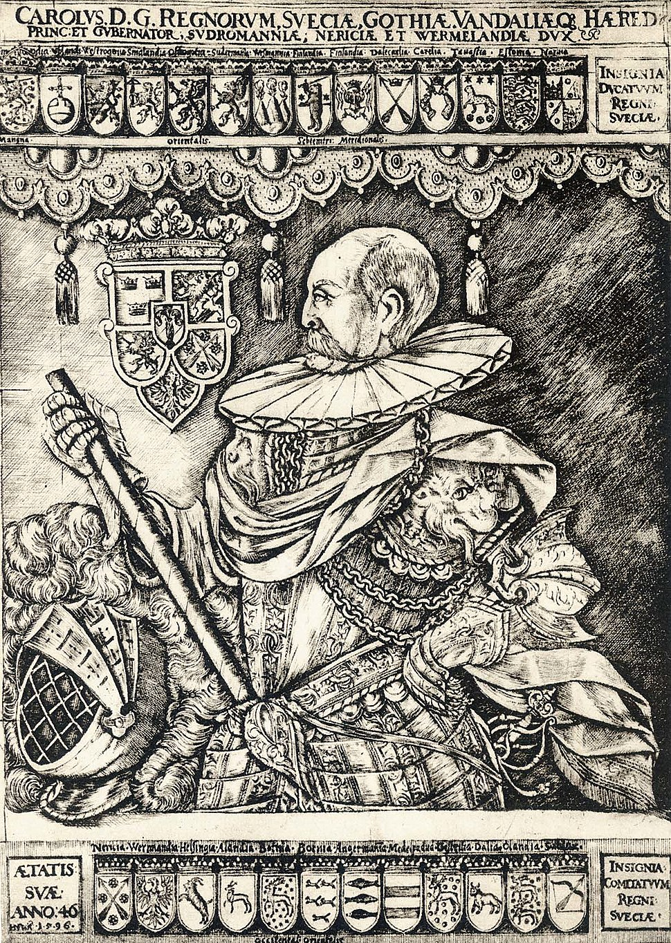 Carl IX of Sweden 1596 by H. N%C3%BCtzel