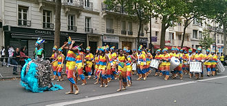 Music of Martinique - A band from Martinique during the 2014 Tropical Carnival of Paris