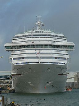 Carnival Conquest docked in Galveston, Texas
