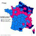 Carte - Élection présidentielle française 2012 - 1er tour 2eme position par candidat.jpg