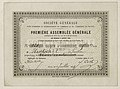 Carte d'admission de Hentsch & Cie à la Société Générale, 1864.jpg