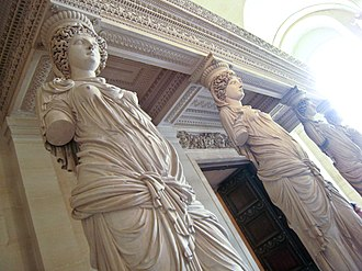 Jean Goujon - Image: Caryatids by Jean Goujon at the Louvre Flickr user Sharon Mollerus