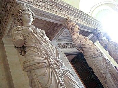 Caryatids by Jean Goujon at the Louvre - Flickr user Sharon Mollerus