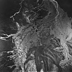 Casement Glacier, valley glacier terminus, outwash plain, and glacial remnents, August 12, 1980 (GLACIERS 5305).jpg