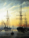 Caspar David Friedrich - View of a harbour.png