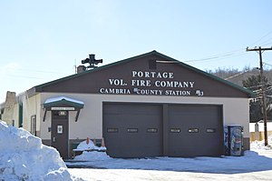 Cassandra, Pennsylvania - Community fire hall