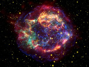 Cassiopeia A - Image: Cassiopeia A Spitzer Crop
