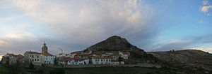 Castell de Cabres - Winter view of the village.