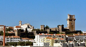 Beja, Portugal - A view of the skyline of Beja, including castle.