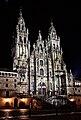 Catedral de Compostela de noite.jpg