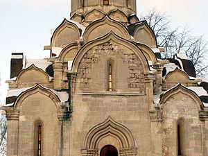 Kokoshnik (architecture) - Image: Cathedral of the Holy Mandylion (Andronikov Monastery) 27