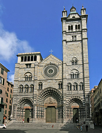 English: San Lorenzo cathedral, Genova, Italy....