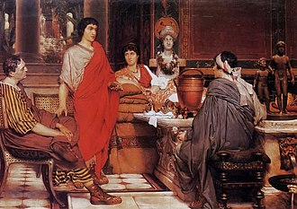 The arts - Lawrence Alma-Tadema's Catullus-at-Lesbia's (1865)