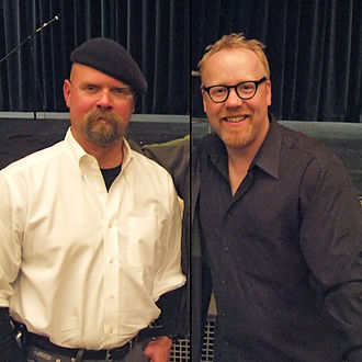 The Daughter Also Rises - The hosts of MythBusters, Jamie Hyneman (left) and Adam Savage (right), guest starred in the episode.