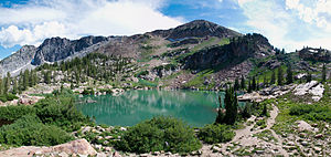 Cecret Lake Panorama Albion Basin Alta Utah July 2009.jpg