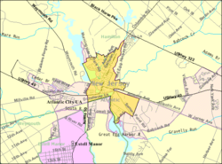 Census Bureau map of Mays Landing, New Jersey