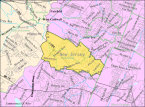 Census Bureau map of Roseland, New Jersey.png